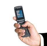 Close up of mobile telephone Stock Photo