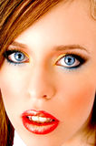 Close up of model looking at camera Royalty Free Stock Photography