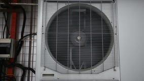 Air water heat pump in winter stock video