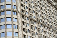 Close up of modern apartment building exteriors Royalty Free Stock Image