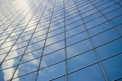 Close up of  modern building. /  abstract building background  for design Royalty Free Stock Image