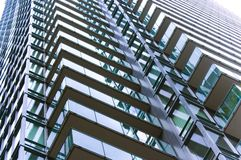 Close up of modern building. / abstract building background for design royalty free stock photo
