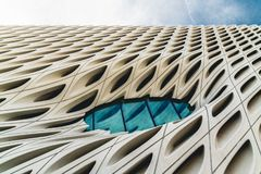 Close up of modern building in Los Angeles royalty free stock photography