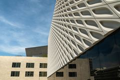 Close up of modern building in Los Angeles royalty free stock photo