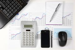 Close up of modern business office details Stock Photo