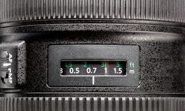 Close up of modern camera Royalty Free Stock Images