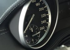 Close up of a modern car dashboard Stock Photo
