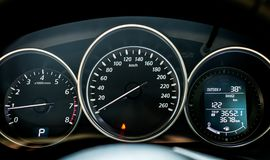 Close up of car dashboard Royalty Free Stock Photo