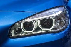 Close up of modern Car Head light Stock Photos