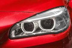 Close up of modern Car Head light Stock Photography