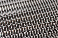 Close-up of modern computer processor cooler or radiator or heat Stock Images