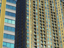 Close up modern condominium. In sunlight royalty free stock image