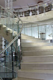 Close-up modern glass staircase Royalty Free Stock Images