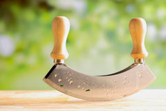 Close up of a modern herb cutter Stock Image