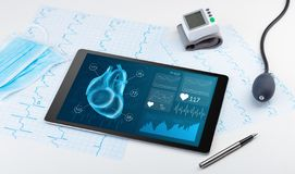 Modern medical technology concept. Close up of modern medical diagnostics conceptn stock photos