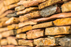 Close up modern pattern of stone wall decorative surfaces Royalty Free Stock Photography