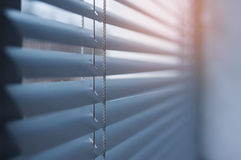 Close-up modern plastic Shutter Blinds in room Stock Photography