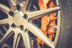 Close up of a modern sport wheel Stock Images