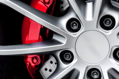 Close up of a modern sport wheel Royalty Free Stock Image