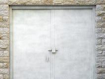 Close up of  modern steel door. Royalty Free Stock Image
