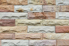 Close up modern stone brick wall surfaced.  Stock Images