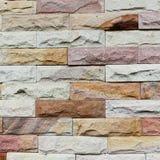 Close up modern stone brick wall surfaced.  Royalty Free Stock Photo