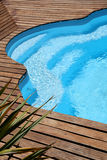 Close-up of modern swimming pool Royalty Free Stock Photo