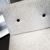 Close-up of modern white armchair Royalty Free Stock Photo