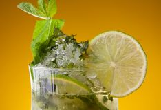 Close-up of mojito cocktail Royalty Free Stock Photo