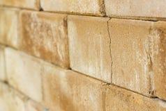 Close up molder brick wall Royalty Free Stock Images
