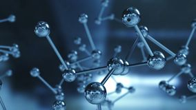 Close up of Molecular structure model. 3D illustration royalty free stock images