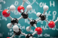 Close up of Molecular structure model on. Structure molecular group objects background concepts equipment Royalty Free Stock Images