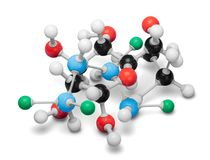 Close up of Molecular structure model on. Structure molecular group objects background concepts equipment Royalty Free Stock Image