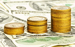 Close up money background stock images