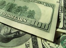 Close-up of money background Royalty Free Stock Photos