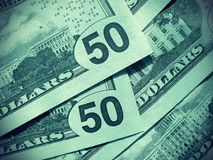 Close-up of money background Stock Images