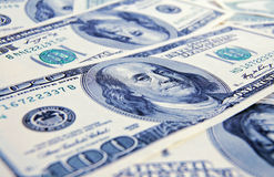 Close-up money dollars background Royalty Free Stock Images