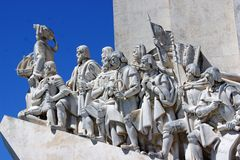 Close up of the Monument to the Discoveries Royalty Free Stock Photo