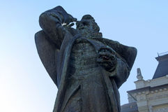 Close-up of the monument to Svetozar Miletic, the first Serbian socialist Stock Image