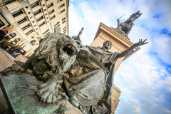 Close up of Monument to Victor Emmanuel II Stock Photos