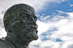Close up of monument to Vladimir Lenin in Cavriago, Italy Royalty Free Stock Image