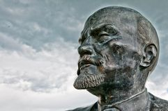 Close up of monument to Vladimir Lenin in Cavriago, Italy Royalty Free Stock Photography