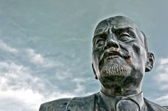 Close up of monument to Vladimir Lenin in Cavriago Stock Image