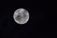 Close up of the moon. Detailed image of the full moon at night time Royalty Free Stock Image