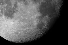 Close-up of the Moon surface Royalty Free Stock Images