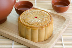 Close up mooncake Royalty Free Stock Photography