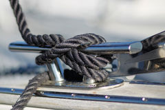 Close-up of mooring knot Stock Images