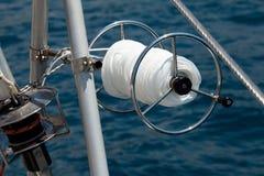 Close-up of a mooring rope Royalty Free Stock Photo