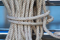Close up on Mooring Rope Stock Image