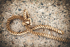 Close-up of a mooring rope Royalty Free Stock Photos